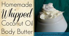 Whipped Coconut Oil Body Butter Recipe      I love that this coconut oil recipe only requires one (yes, one!) ingredient: coconut oil. Any...
