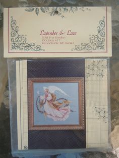 Counted Cross Stitch Pattern, Needlework Kit, Vintage Embroidery Kit by Lavender & Lace, Angel of Summer by ReTHINKinIt on Etsy