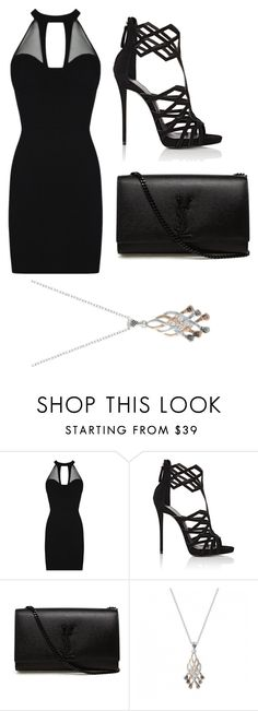 """Senza titolo #2"" by carlotta-russo-1 ❤ liked on Polyvore featuring Giuseppe Zanotti and Yves Saint Laurent"