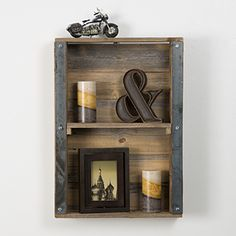 This item is made 100% from reclaimed wood. There is nothing added to this product but old wood. This item comes ready to hand with metal hangers on the back.MeasurementsHeight - 24 in.Width - 17 1/2 in.Every piece we create is its own creation. We do our best to match our photos but wood does what it wants. This is the nature of creating home decor out of old lumber. We will do what we can to get you what you want, but a open mind is a must. Colors, textures, and character makes will al...