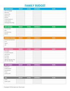 Free printable family budgeting worksheets to set and track progress towards financial goals.