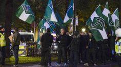 Ekstremister i brutal kamp om svensk innvandring Svenskarnas Parti: Jessica Gow/ SCANPIX