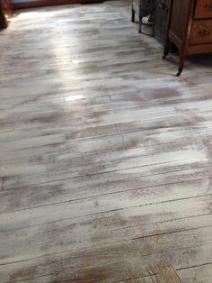 Distressed Floors...rip up that carpet