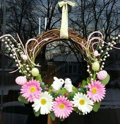 Check out this item in my Etsy shop https://www.etsy.com/listing/224464808/easter-grapevine-wreath-easter-bunny