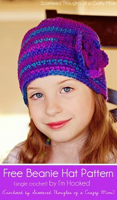 Free Child's Crochet Beanie Hat Pattern
