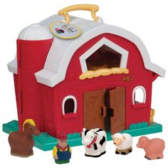 Let 2 year olds be imaginative and creative with the big red barn!!! A fabulous educational gift.