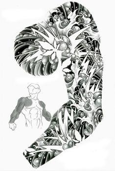 wonderful tribal sleeve tattoo for men tattoo ideas - sleeve tattoo drawings Quarter Sleeve Tattoos, Half Sleeve Tattoos Designs, Tribal Sleeve Tattoos, Tattoo Designs Men, Arm Tattoo, Tattoo Sleeves, Tattoo Design Drawings, Tattoo Sketches, Drawing Designs
