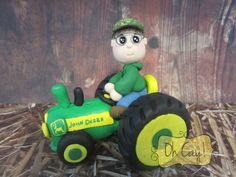 Lane on a John Deere Tractor (Polymer Clay) by Oh Cay! Visit www.ohcay.com