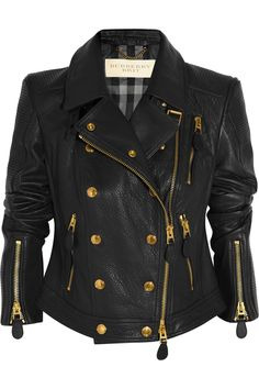 Burberry Brit Textured Leather Biker Jacket I love it, its very much my style!
