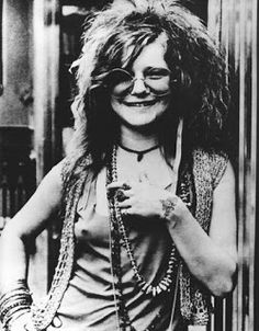 Janis. Musical icon. Fashion icol. Overall badass.  ----------  Janis Joplin style was unstructured. no need for a bra or makeup. (Vanessa for Blacklist Vintage)
