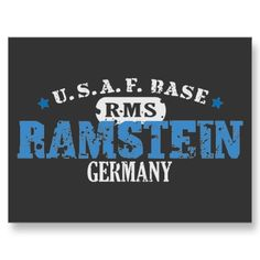 Ramstein, Germany: this is where my brothers and I were born:)