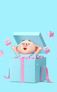Pig Wallpaper, Animal Wallpaper, Iphone Wallpaper, This Little Piggy, Little Pigs, Cute Piglets, 3d Art, Pig Drawing, Pig Illustration