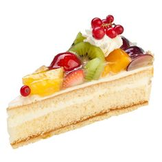 Sahnige Obsttorte - Cream & Fruit Cake  (German)