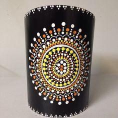 #SNSDESIGNS #handpainted #utensilholder #wooden #dots #dotart #dotaddiction #FAB15marday10 Wine Bottle Art, Glass Bottle Crafts, Painted Wine Bottles, Dot Art Painting, Mandala Painting, Mosaic Bottles, Point Paint, Cute Candles, Pots