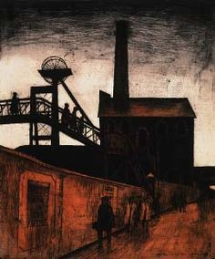 'Going Home' (Trehafod) by George Chapman, (etching) Gwen John, Camino Real, Coal Mining, Urban Life, Art For Art Sake, Built Environment, Socialism, Etchings, Going Home