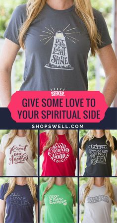Awesome T's we found on Shopswell.com  Seekerbrand is taking some of the most powerful, simple and inspiring spiritual messages and putting them on beautifully designed, high quality T's.  We love it. People notice and smile. Those with ears to hear, get it, and love it too, and maybe….just maybe a choice this simple can help to make the world a tiny bit better place.