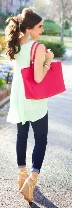 Bright Spring Closet Staples Outfit Idea by The Sweetest Thing