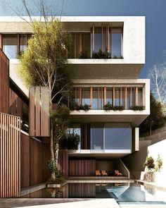 "10.3k Likes, 19 Comments - Amazing Architecture (@amazing.architecture) on Instagram: ""Contemporary design by @saeb_alimohammadi66 #iran #archiviz #3dmax www.amazingarchitecture.com ✔️…"""