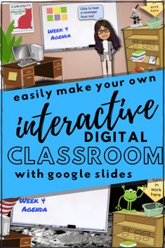 Make a Bitmoji Virtual Classroom with Google Slides - Teach Every Day Google Classroom, Classroom Images, Online Classroom, School Classroom, Classroom Activities, Classroom Ideas, Future Classroom, Writing Activities, Teacher Images