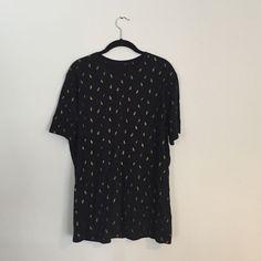 Black 21 Men TShirt Black TShirt with gold $ print Forever 21 Tops Tees - Short Sleeve