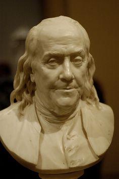 Benjamin Franklin, by Jean-Antoine Houdon.