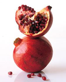 In Season: Pomegranates begin to ripen in September and are available through January.What to Look For: Choose deeply colored purplish-red pomegranates that feel heavy for their size. Avoid any fruit that is cracked or has soft spots.How to Store: When kept in an airtight bag in the refrigerator, whole pomegranates will keep for a month or more. Pomegranate seeds should be refrigerated and used within a few days.