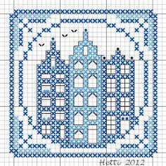 Delft Blue Tiles, Part Cross Stitch Boards, Mini Cross Stitch, Cross Stitch Samplers, Cross Stitching, Cross Stitch Embroidery, Embroidery Patterns, Machine Embroidery, Bead Loom Patterns, Craft Patterns