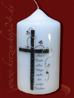 Trauerkerze A-1017 Candle Sconces, Wall Lights, Candles, Home Decor, Condolences, Keepsakes, Embellishments, Crafts, Craft