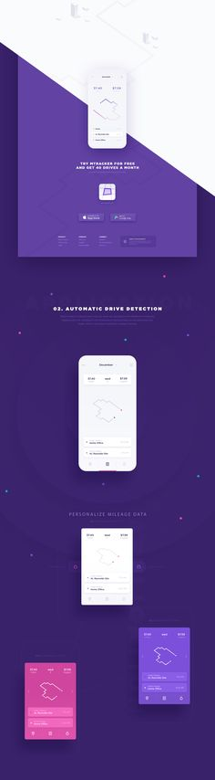 Website and App Design: Mileage Tracker