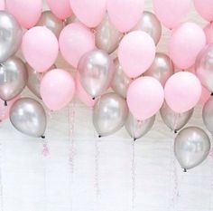 I want a lot of pink and silver balloons at the reception