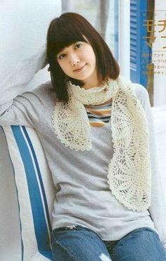 Large Motif Scarf free crochet graph pattern