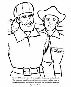 Lewis and Clark Coloring Page Worksheets Clarks and Social studies