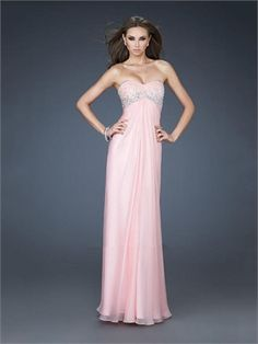 Lovely Sweetheart With Beadings Cut-out Back Chiffon Prom Dress PD11336 www.dresseshouse.co.uk $119.0000