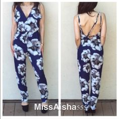 Stunning jumpsuit BOGO  SALE NEW JUST IN! stunning floral jumpsuit low back great fit chic style half lined PLEASE USE Poshmark new option you can purchase and it will give you the option to pick the size you want ( all sizes are available) BUNDLE And SAVE 10% ( sizes updated daily ) Dresses
