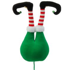 RAZ Elf Butt Christmas Decoration Green, Red, White, Black Made of Polyester Measures X X RAZ 2016 North Pole Village Collection *Extra image shows how product could be used pick RAZ Green Elf Butt Decoration Christmas Tree Picks, Merry Christmas, Christmas Cake Pops, Christmas Party Games, Colorful Christmas Tree, Christmas Store, Elegant Christmas, Outdoor Christmas Decorations, Christmas Tree Ornaments