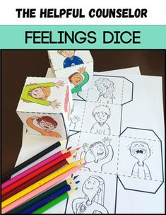 Feelings dice are a great way to help kids develop emotional vocabulary and to get them to open up about how they are feeling! Roll the dice for a ton of great discussions about feelings!