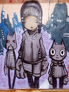 Barcelonetta street art trio by Jasmic, via Flickr