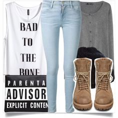 School Style by madeinmalaysia on Polyvore featuring H