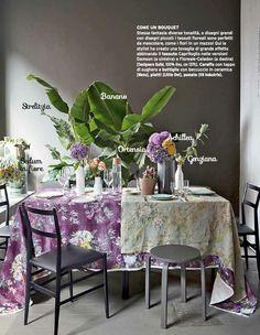 Designers Guild Caprofoglio fabric collection as seen in Casa Facile, Italy
