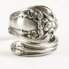 Petite Floral Victorian Chateau Rose Sterling Silver by Spoonier