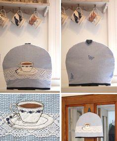 Handmade tea cosies by Lacewings