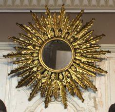 Starshine mirror Sun mirror Sunshine mirror Hollywood Regency Convex mirror Gold mirror Golden Round mirror Entryway Living room mirror