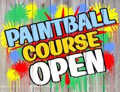 Letterform Design Font / LHF Big Bob / Paintball Course Open / Vintage, Decorative, Sign Painter's Knock-Out Brush Casual
