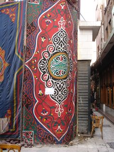 The real thing - vintage Tentmaker hanging on a corner of Khan el Khalili.  Photo Barbara Chainey