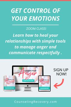 In this live class, learn the skills to manage anger and stress without spending years in therapy. Learn the skills to manage anger effectively, communicate with respect, become a compassionate listener and develop consistent self-care and boundaries so your emotions don't rule you.