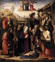 Adoración de los Pastores, por Ridolfo Ghirlandaio.