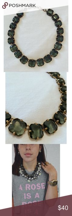 J.Crew Statement Necklace forest green J. Crew Jewelry Necklaces