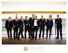 Limelight Photography, www.stepintothelimelight.com, Weddings, Grace Lutheran Church, St. Petersburg, Florida, Groomsmen, Groom, Black, Blue, Gate, Fence