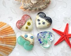 Handmade Lampwork Glass Focal Bead  by TemptingLittleCharms, £6.00