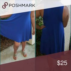 Sleeveless Swing Dress Comes in Tan, Blue or Black in Sizes S-XL Dresses
